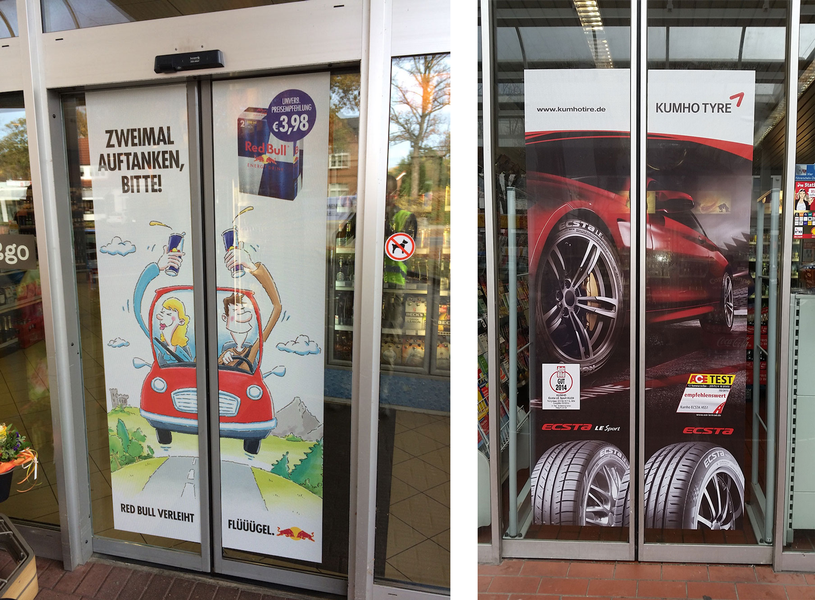 Shell Doorgraphics RedBull und Kumho Tyre