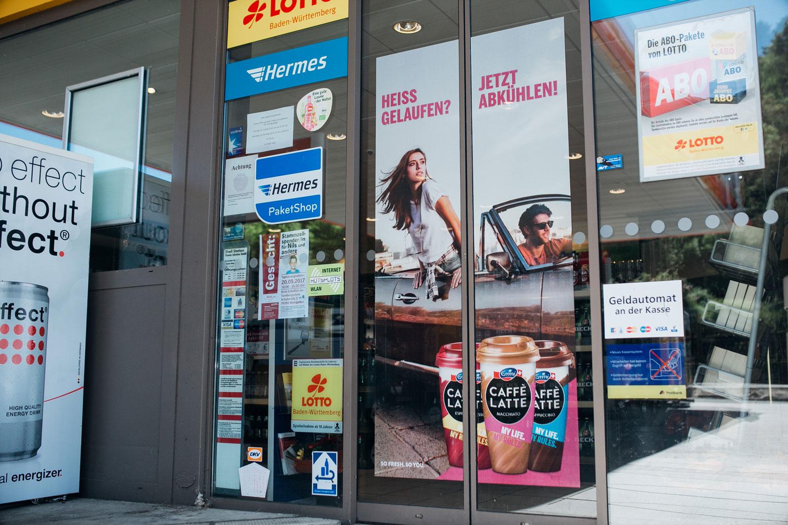 Shell Doorgraphics Emmi bei ISM
